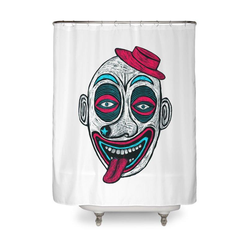 Clown Home Shower Curtain by Sean StarWars' Artist Shop