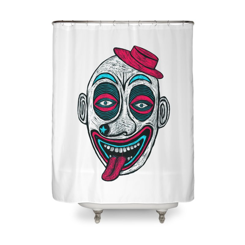 Clown Home Shower Curtain by Sean StarWars' Artist Shop