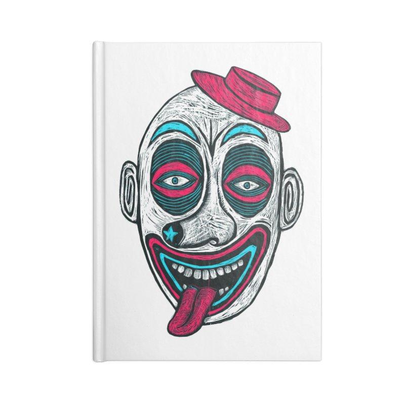 Clown Accessories Lined Journal Notebook by Sean StarWars' Artist Shop