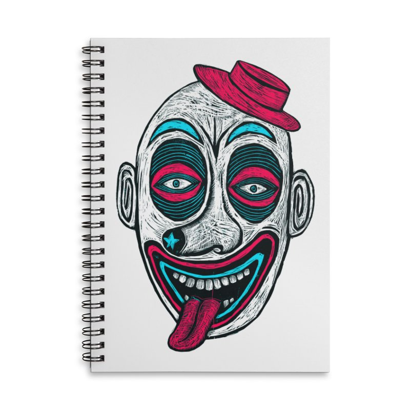 Clown Accessories Lined Spiral Notebook by Sean StarWars' Artist Shop