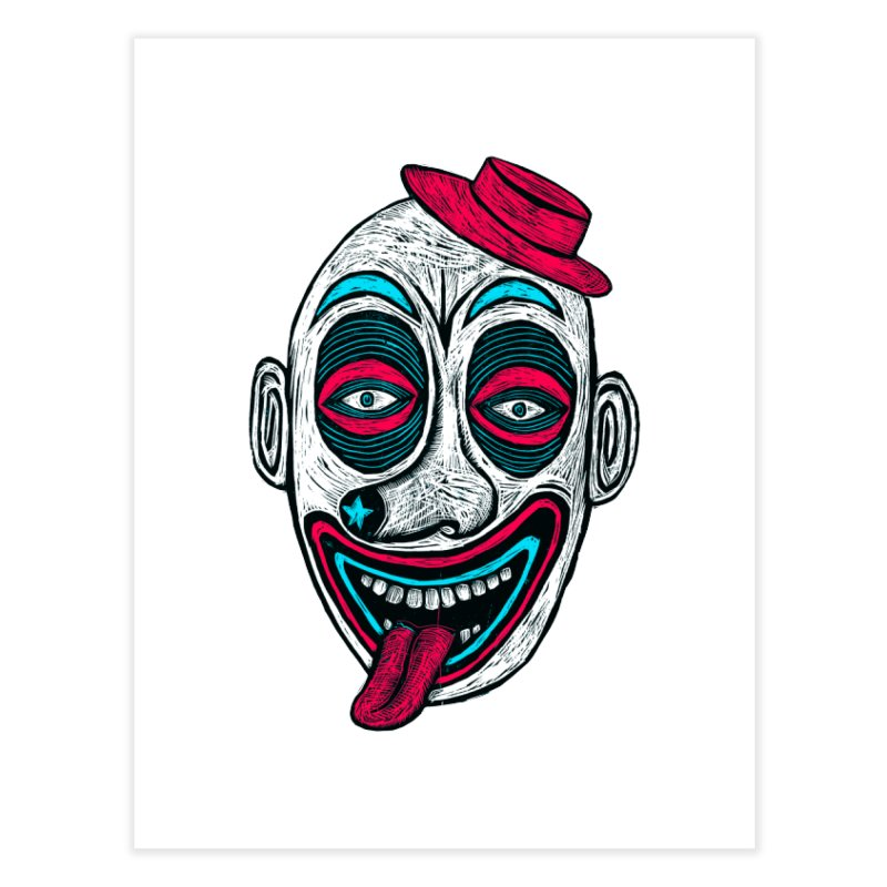 Clown Home Fine Art Print by Sean StarWars' Artist Shop