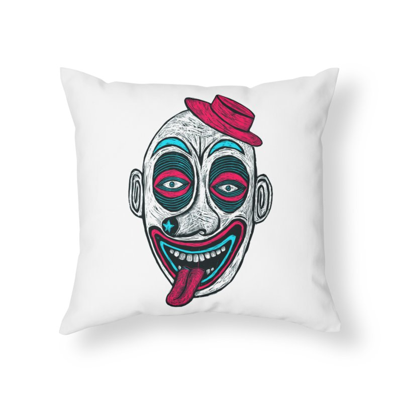 Clown Home Throw Pillow by Sean StarWars' Artist Shop