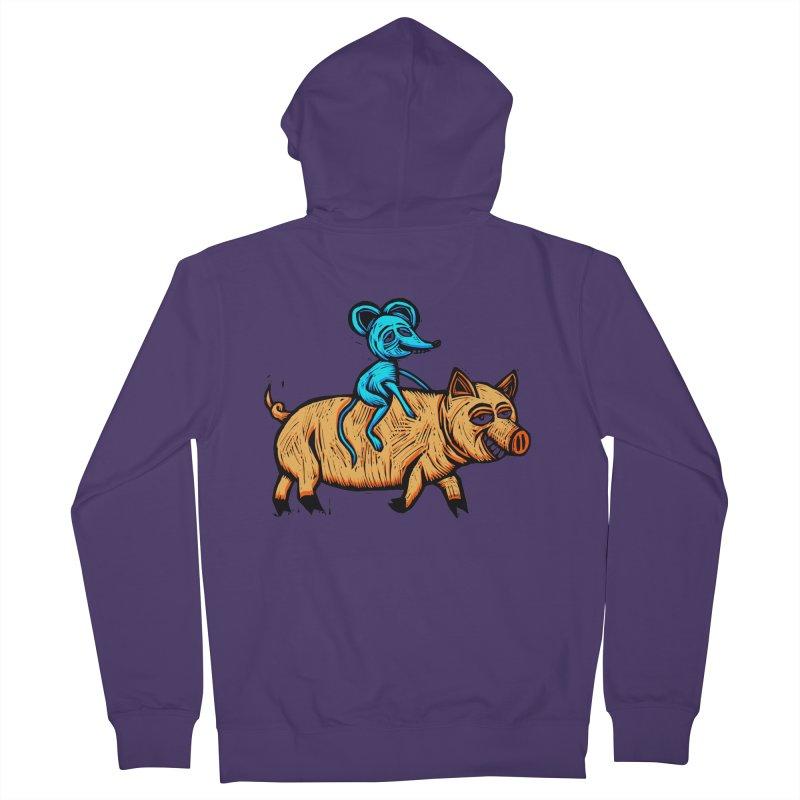 Piggyback Ride Women's Zip-Up Hoody by Sean StarWars' Artist Shop