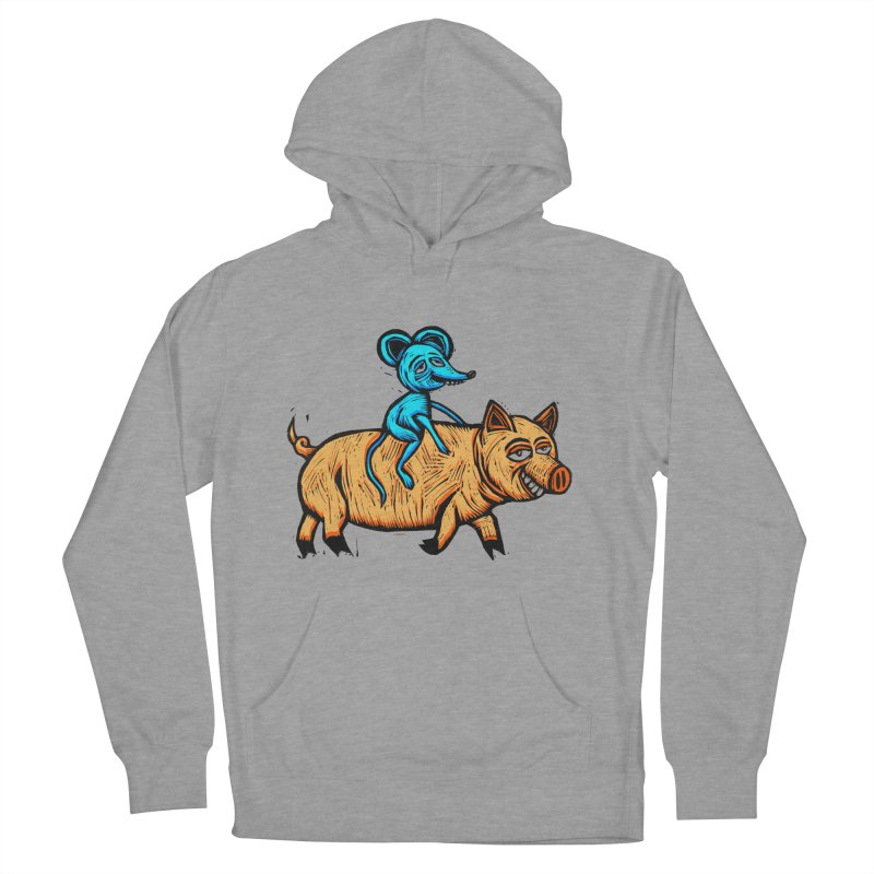 Piggyback Ride Women's French Terry Pullover Hoody by Sean StarWars' Artist Shop