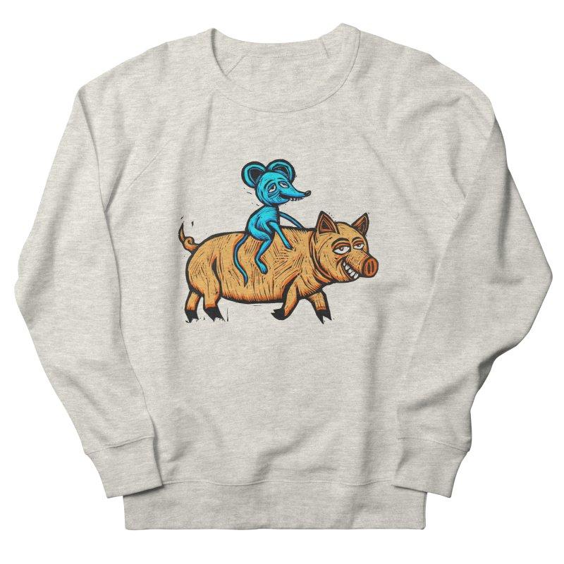 Piggyback Ride Men's French Terry Sweatshirt by Sean StarWars' Artist Shop