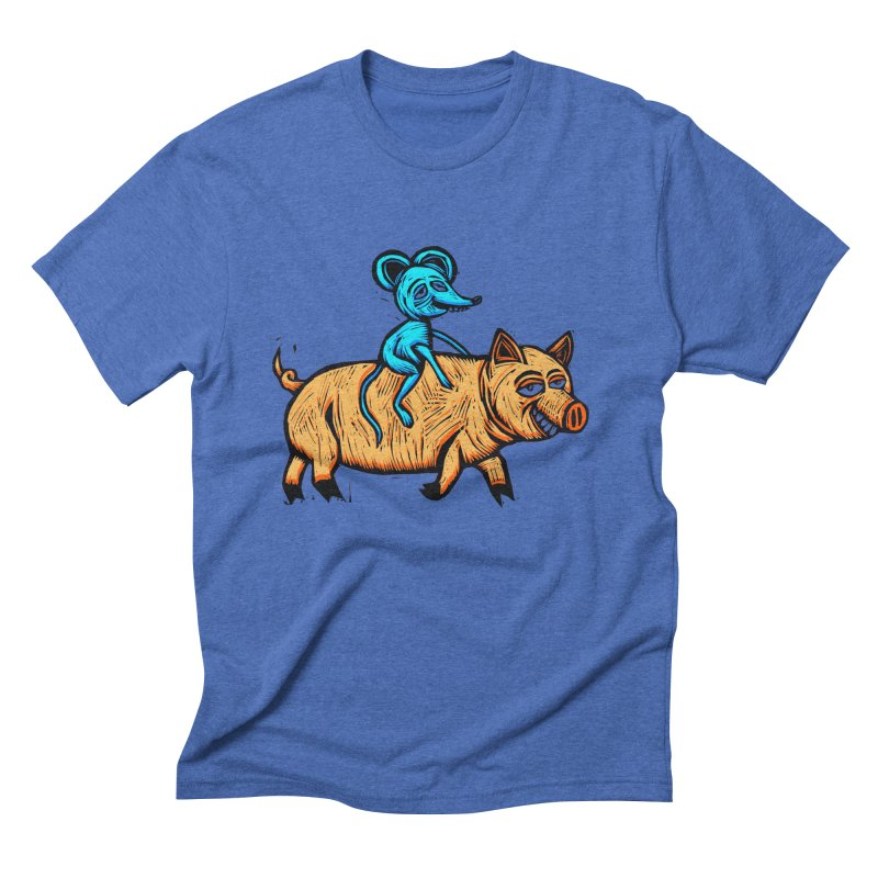 Piggyback Ride Men's Triblend T-Shirt by Sean StarWars' Artist Shop