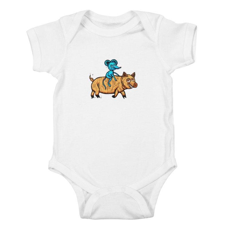 Piggyback Ride Kids Baby Bodysuit by Sean StarWars' Artist Shop