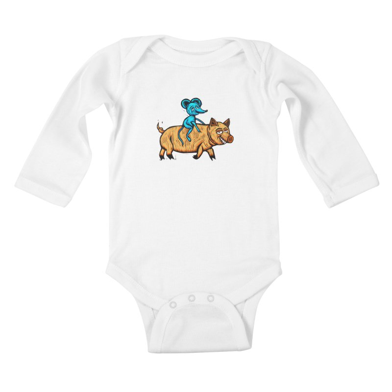 Piggyback Ride Kids Baby Longsleeve Bodysuit by Sean StarWars' Artist Shop