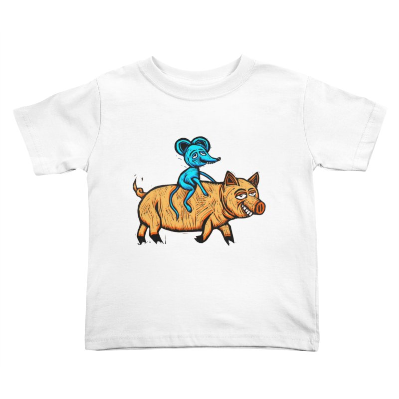 Piggyback Ride Kids Toddler T-Shirt by Sean StarWars' Artist Shop