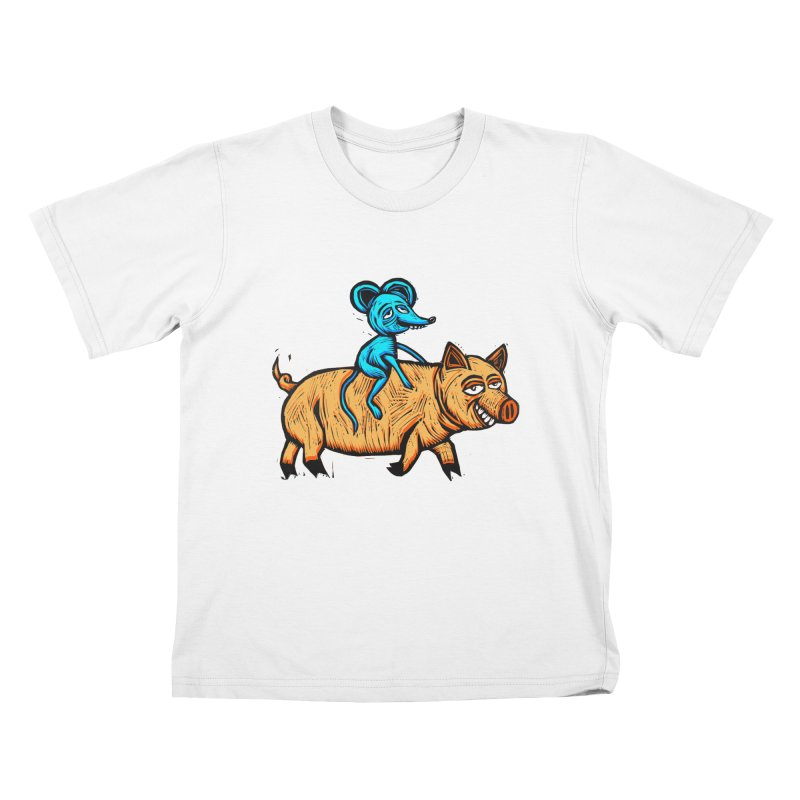 Piggyback Ride Kids T-Shirt by Sean StarWars' Artist Shop