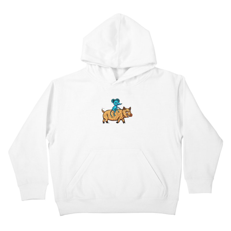 Piggyback Ride Kids Pullover Hoody by Sean StarWars' Artist Shop