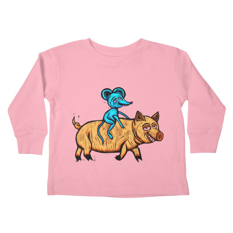 Piggyback Ride Kids Toddler Longsleeve T-Shirt by Sean StarWars' Artist Shop