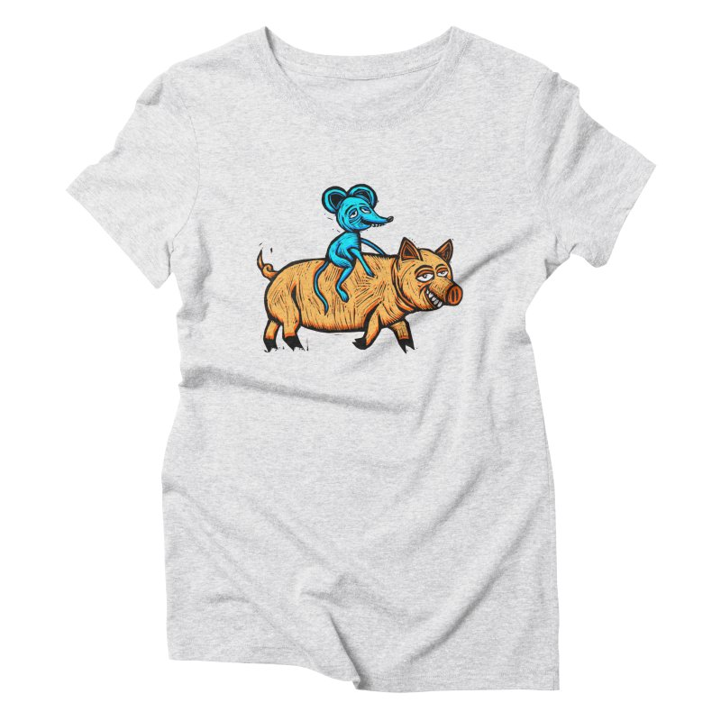 Piggyback Ride Women's Triblend T-Shirt by Sean StarWars' Artist Shop