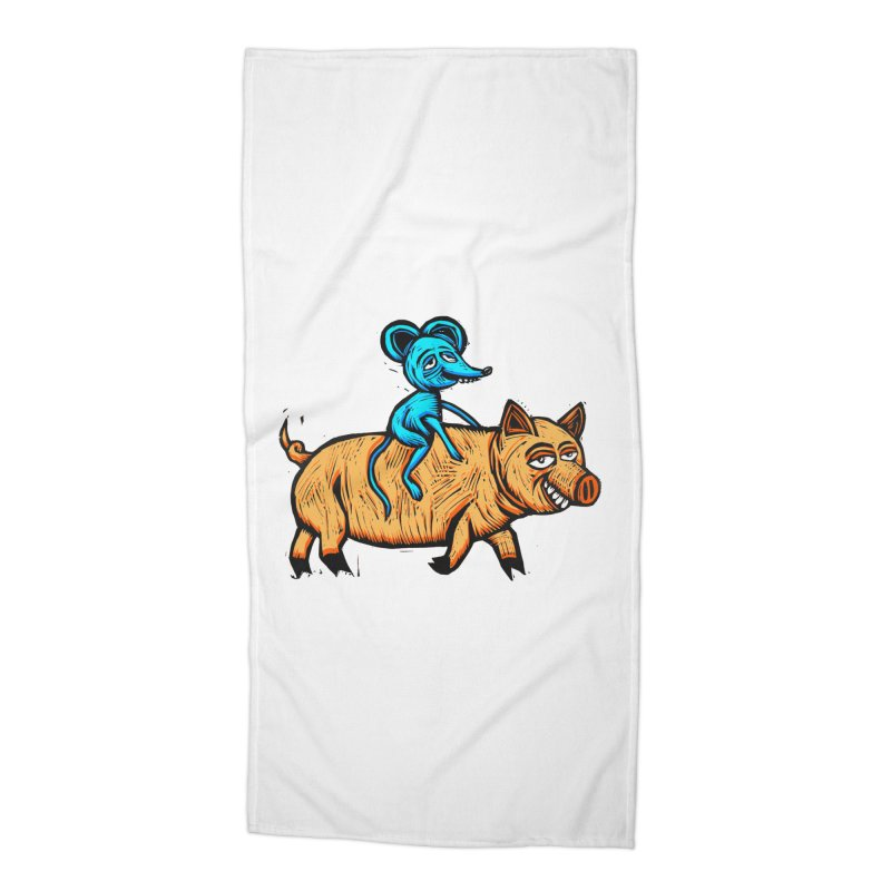 Piggyback Ride Accessories Beach Towel by Sean StarWars' Artist Shop