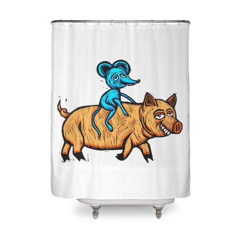 Piggyback Ride Home Shower Curtain by Sean StarWars' Artist Shop