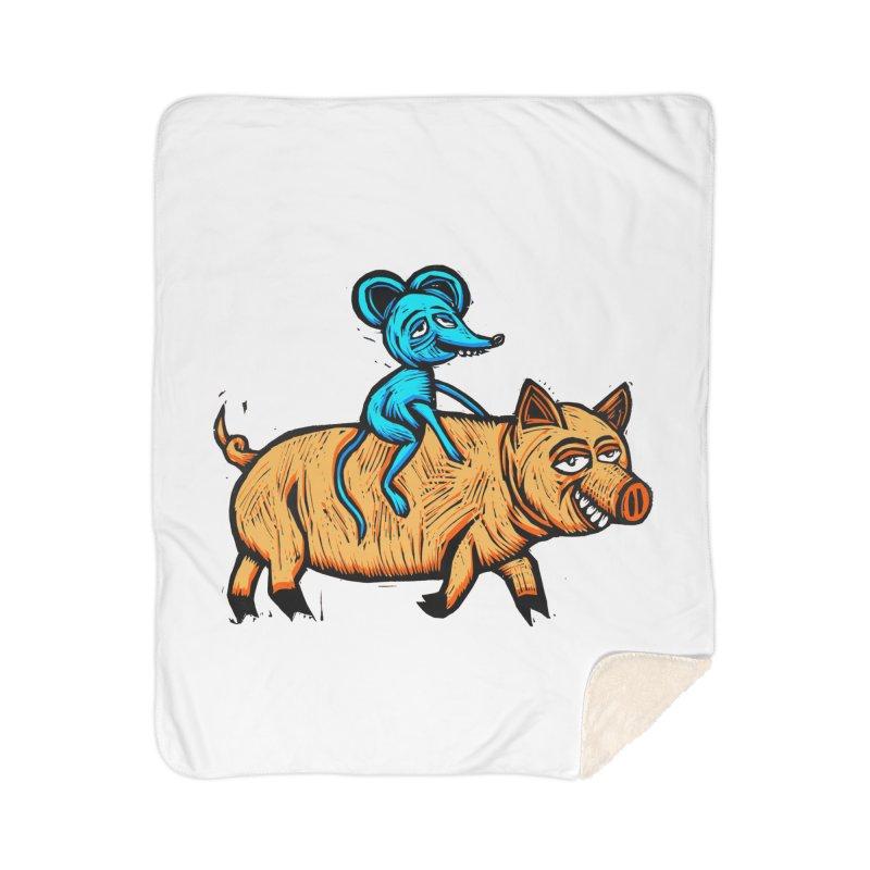 Piggyback Ride Home Sherpa Blanket Blanket by Sean StarWars' Artist Shop