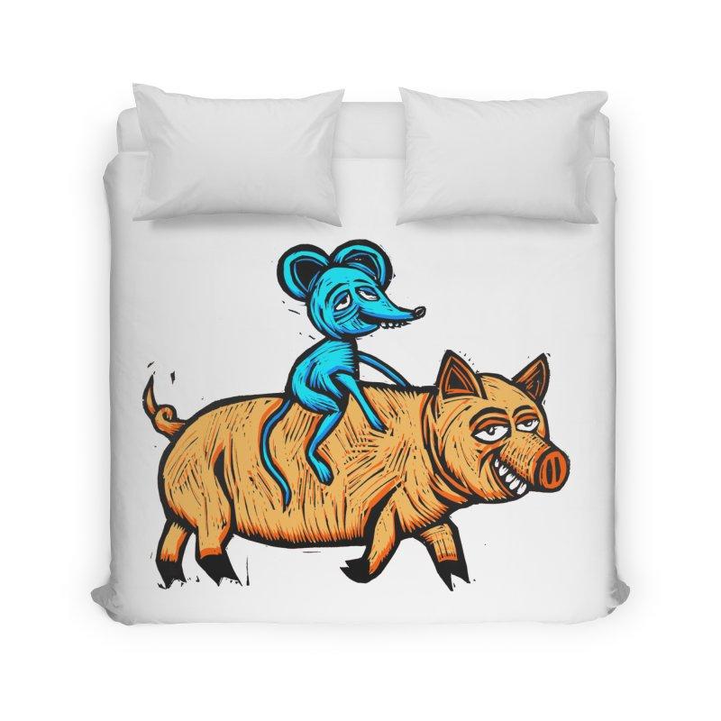 Piggyback Ride Home Duvet by Sean StarWars' Artist Shop