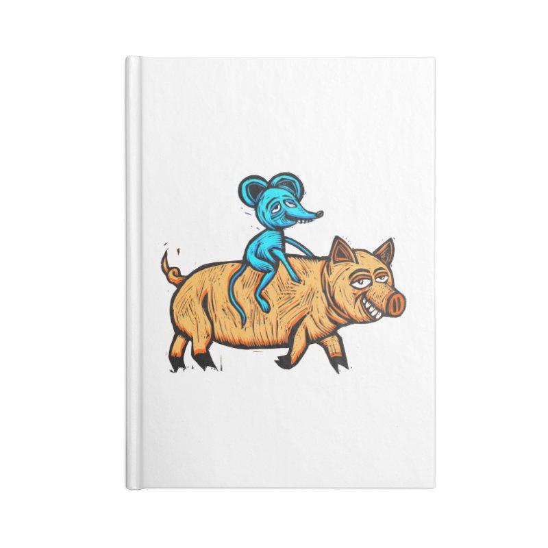 Piggyback Ride Accessories Lined Journal Notebook by Sean StarWars' Artist Shop