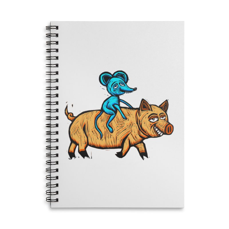 Piggyback Ride Accessories Lined Spiral Notebook by Sean StarWars' Artist Shop