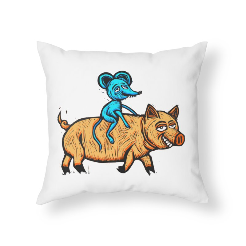 Piggyback Ride Home Throw Pillow by Sean StarWars' Artist Shop