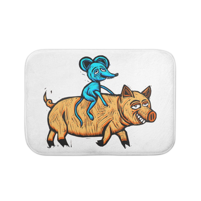 Piggyback Ride Home Bath Mat by Sean StarWars' Artist Shop