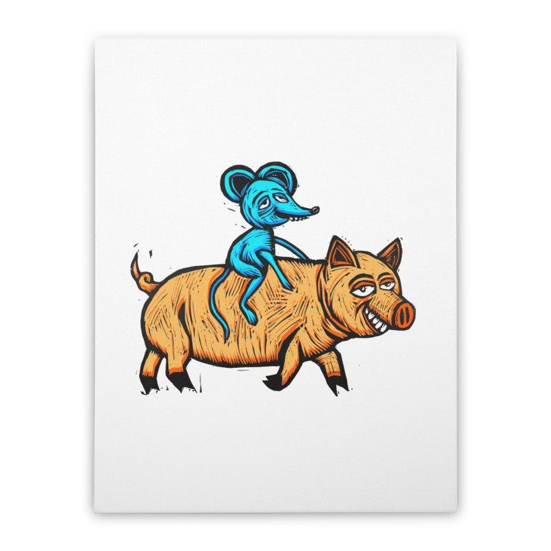 Piggyback Ride Home Stretched Canvas by Sean StarWars' Artist Shop