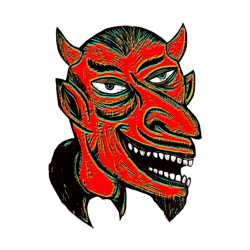Devil Head Men's T-Shirt by Sean StarWars' Artist Shop