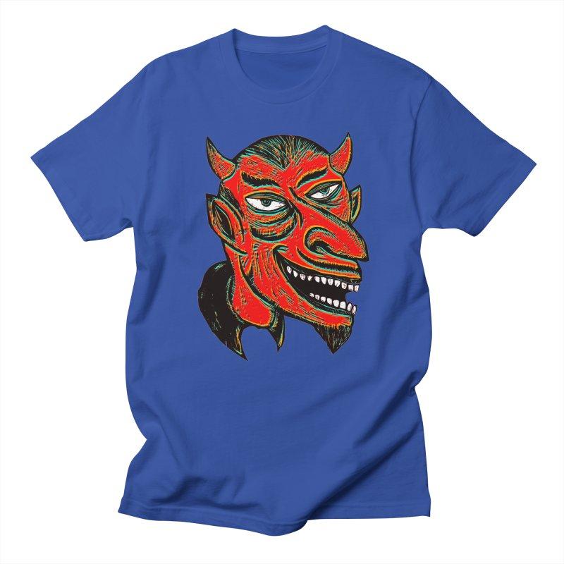 Devil Head Men's T-Shirt by Sean StarWars' Artist Shop
