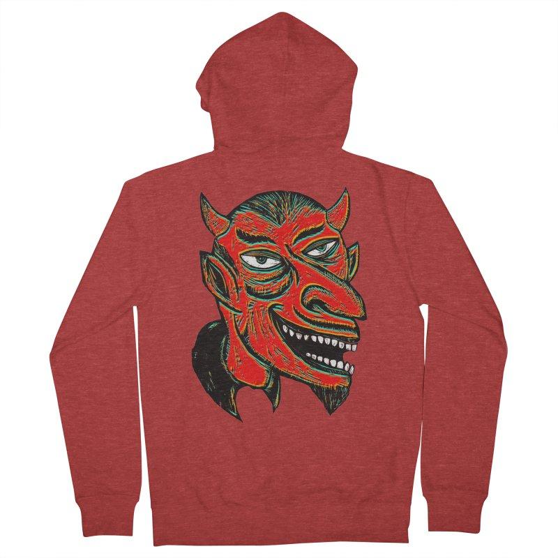 Devil Head Men's Zip-Up Hoody by Sean StarWars' Artist Shop