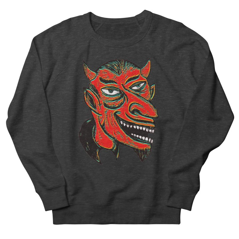 Devil Head Men's Sweatshirt by Sean StarWars' Artist Shop