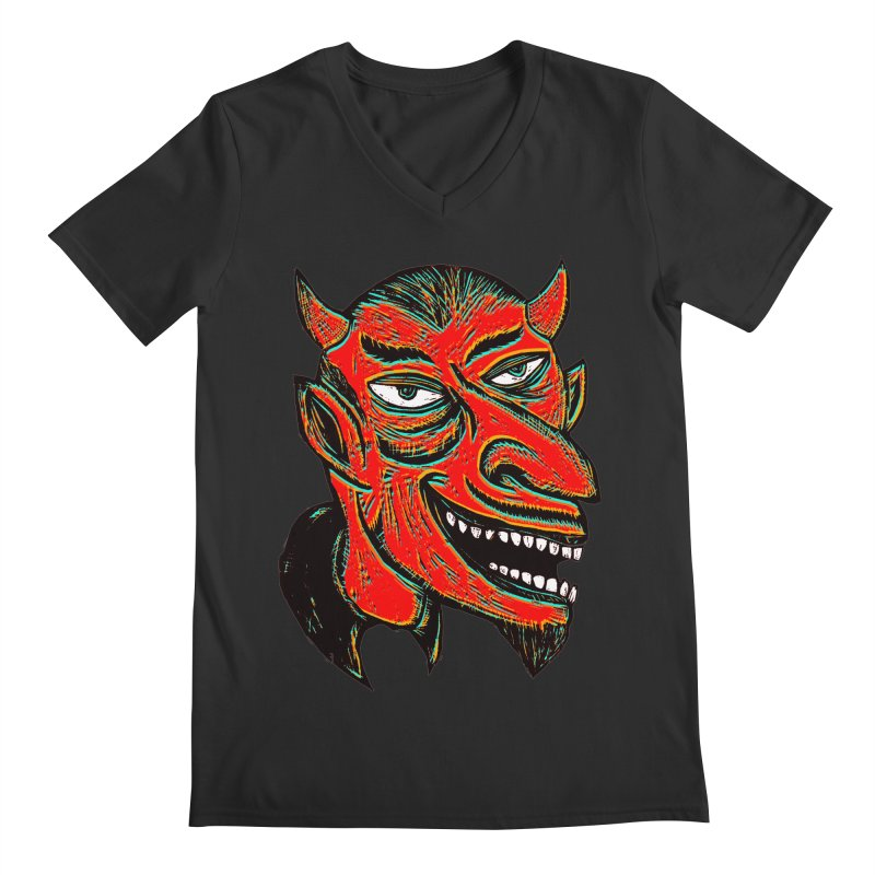 Devil Head Men's V-Neck by Sean StarWars' Artist Shop