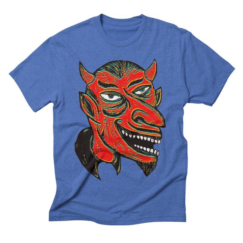 Devil Head Men's Triblend T-shirt by Sean StarWars' Artist Shop
