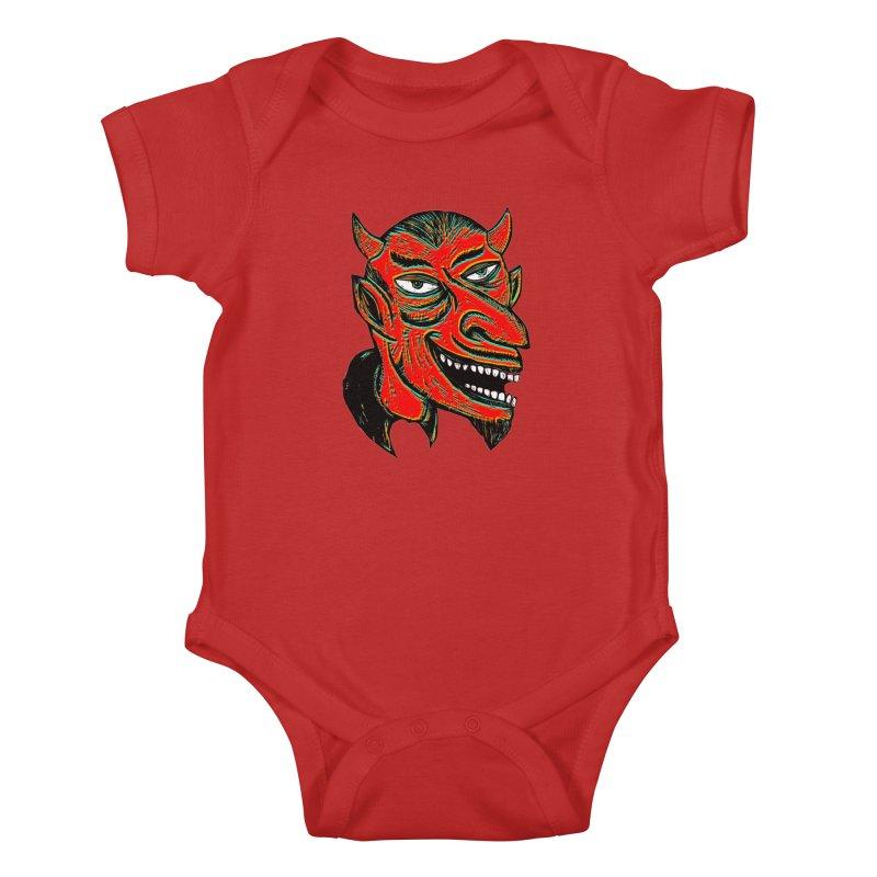 Devil Head Kids Baby Bodysuit by Sean StarWars' Artist Shop