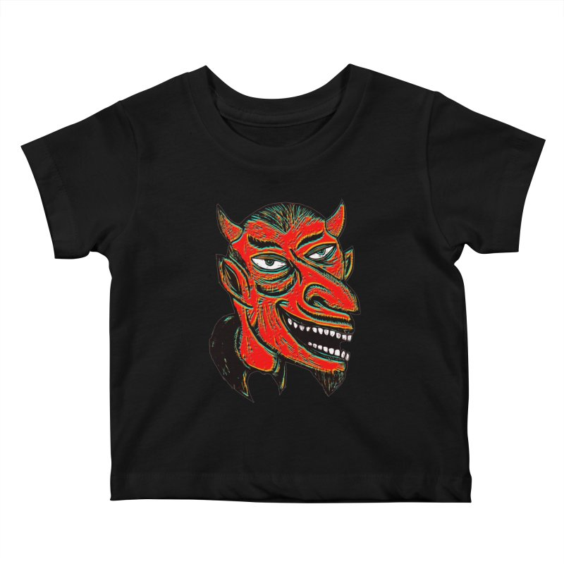 Devil Head Kids Baby T-Shirt by Sean StarWars' Artist Shop