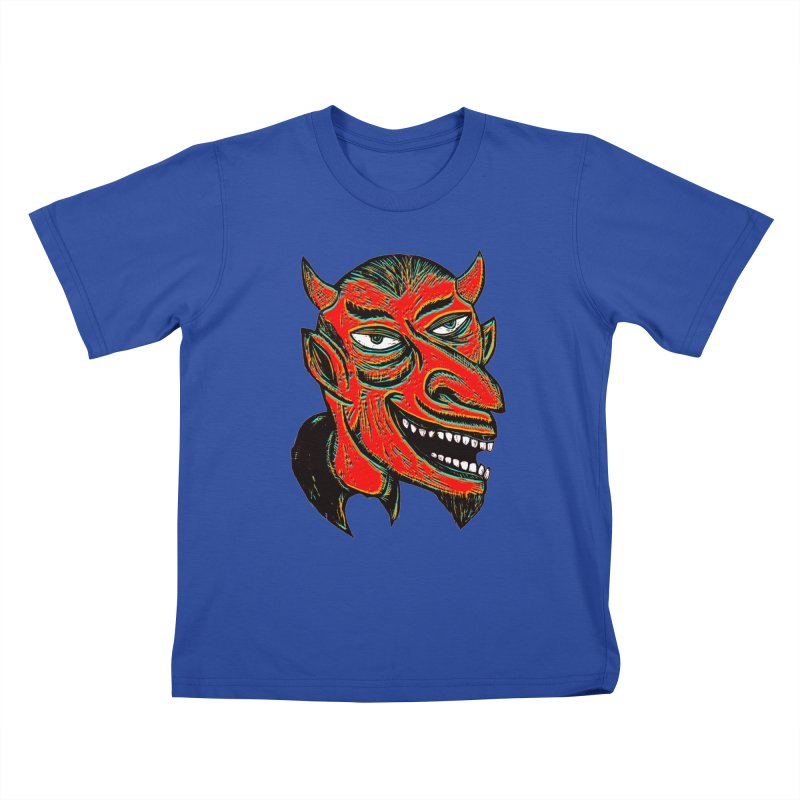Devil Head Kids T-Shirt by Sean StarWars' Artist Shop