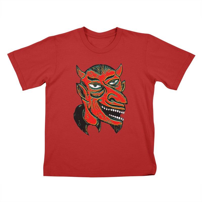 Devil Head Kids T-shirt by Sean StarWars' Artist Shop