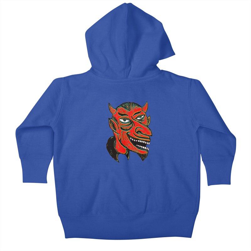 Devil Head Kids Baby Zip-Up Hoody by Sean StarWars' Artist Shop