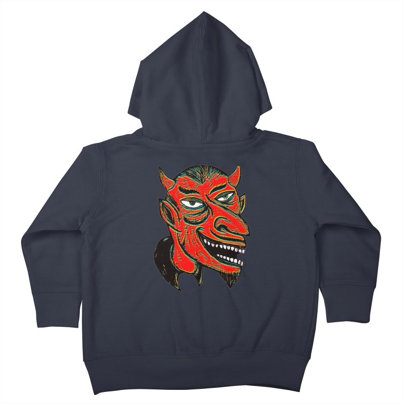 Devil Head Kids Toddler Zip-Up Hoody by Sean StarWars' Artist Shop