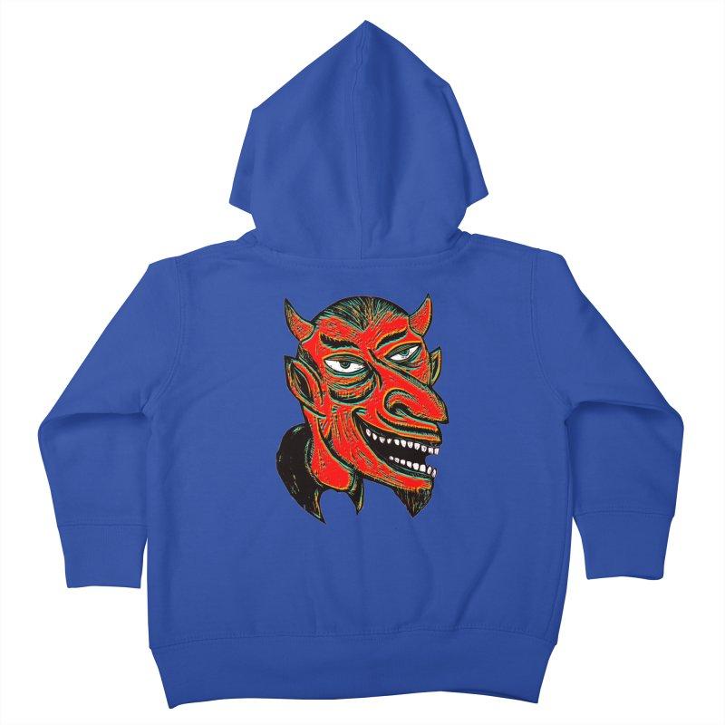 Devil Head Kids Toddler Zip-Up Hoody by Sean StarWars' Artist Shop