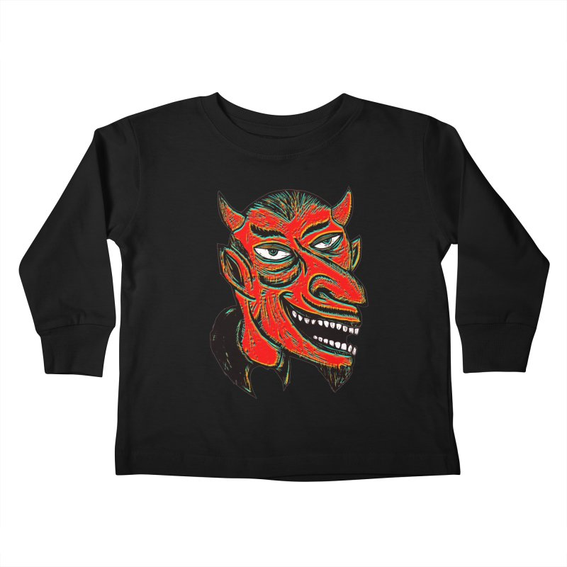 Devil Head Kids Toddler Longsleeve T-Shirt by Sean StarWars' Artist Shop