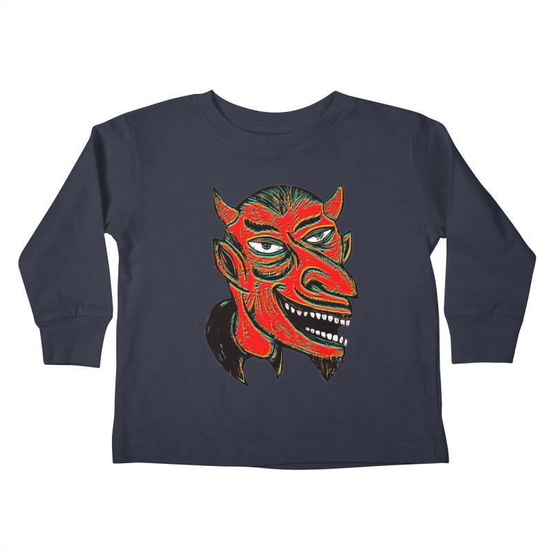Devil Head Kids Toddler Longsleeve T-Shirt by Sean StarWars' Artist Shop