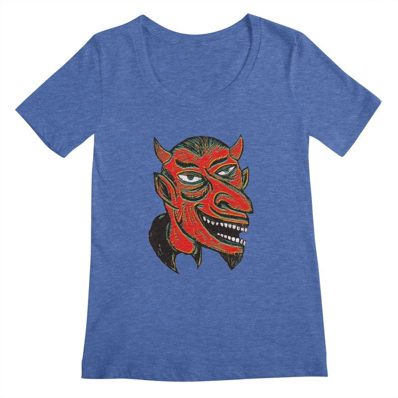 Devil Head Women's Regular Scoop Neck by Sean StarWars' Artist Shop