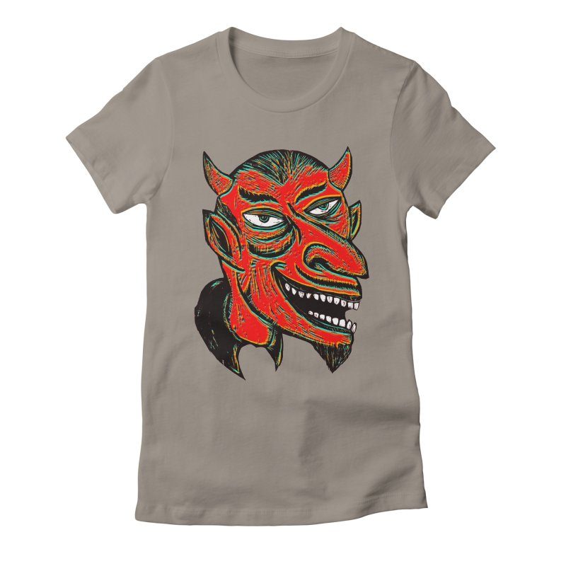 Devil Head Women's Fitted T-Shirt by Sean StarWars' Artist Shop