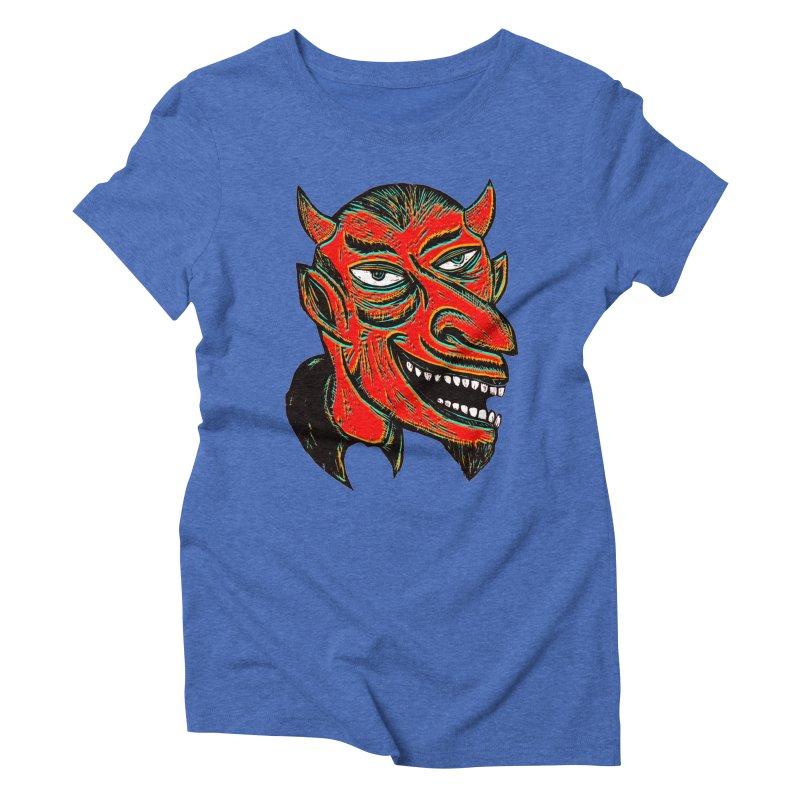 Devil Head Women's Triblend T-shirt by Sean StarWars' Artist Shop