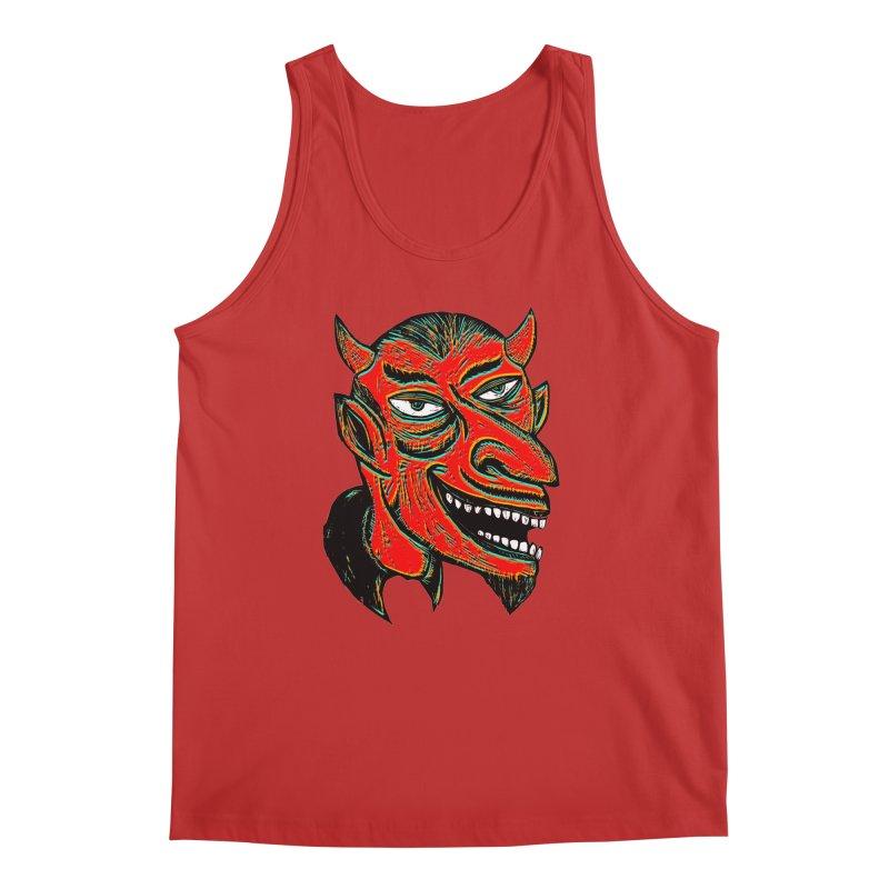 Devil Head Men's Regular Tank by Sean StarWars' Artist Shop