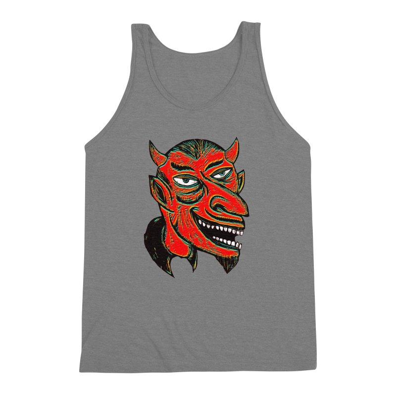 Devil Head Men's Triblend Tank by Sean StarWars' Artist Shop