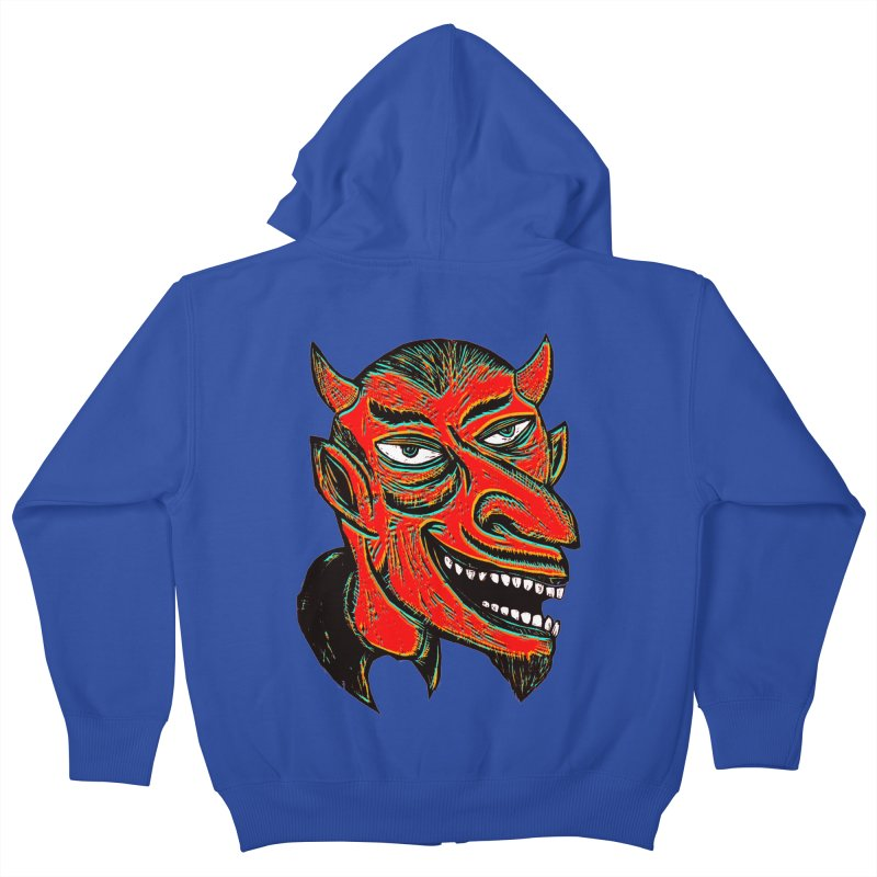 Devil Head Kids Zip-Up Hoody by Sean StarWars' Artist Shop