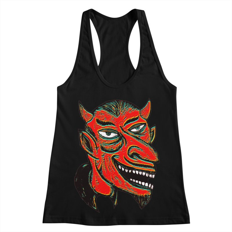 Devil Head Women's Racerback Tank by Sean StarWars' Artist Shop