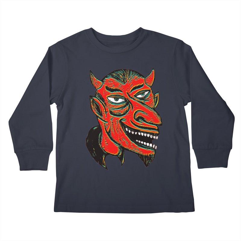 Devil Head Kids Longsleeve T-Shirt by Sean StarWars' Artist Shop