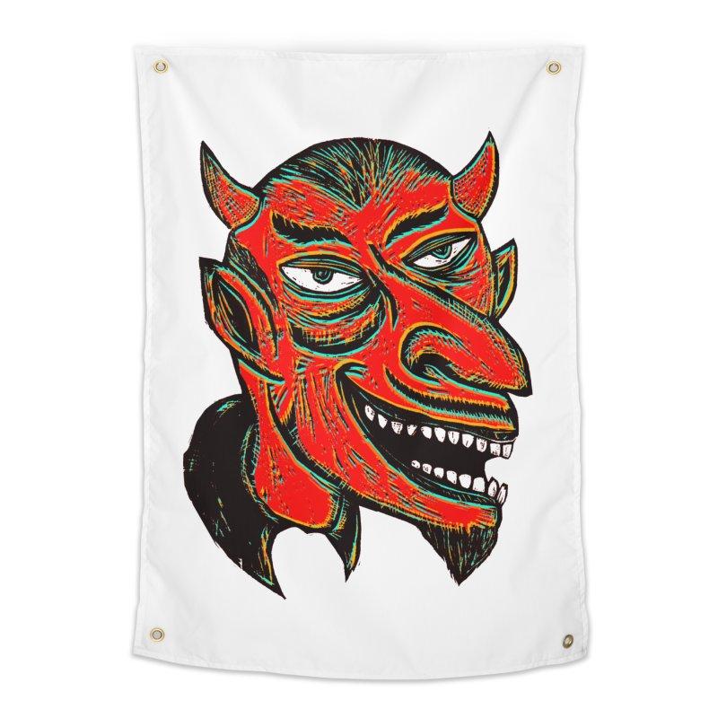 Devil Head Home Tapestry by Sean StarWars' Artist Shop